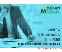 Career & Job Opportunities after PGDM in Business Administration (B.A)
