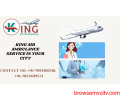 Avail the King Air Ambulance Service in Varanasi with Entire Healthcare Tools