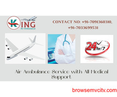 King Air Ambulance Service in Siliguri is now for Vital Airways Shifting