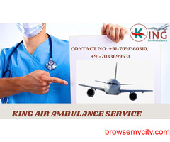 Make a Choice of the King Air Ambulance Service in Jamshedpur