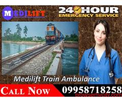 Get Medilift Train Ambulance Facilities in Ranchi with Full ICU Setup