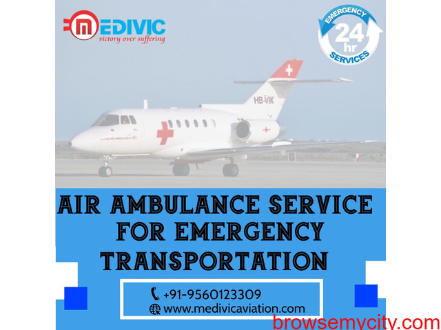 Use Superlative Air Ambulance Service in Patna with ICU by Medivic - 1/1