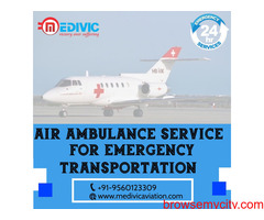 Use Superlative Air Ambulance Service in Patna with ICU by Medivic