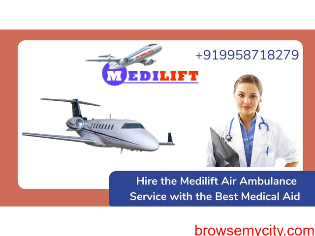 Book the Best Air Ambulance Service in Bagdogra from Medilift - 1/1