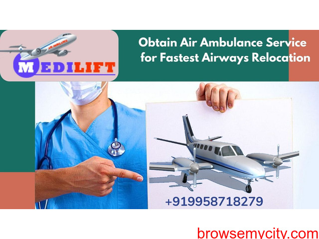 Avail the Medilift Air Ambulance Service in Hyderabad at Affordable Fare - 1/1