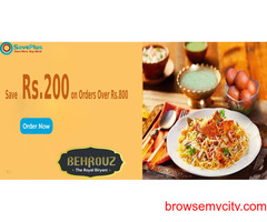 BehrouzBiryani Coupons, Deals & Offers: Save Rs.200 on Orders Over Rs.800