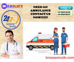 Easy Going Ambulance Service in Patna by Medilift
