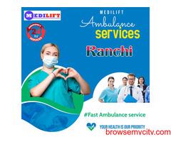Emergency Ambulance Service in Ranchi by Medilift Ambulance