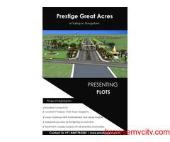 Prestige Great Acres Sarjapur, Bangalore   New Residential Plots By Prestige Group