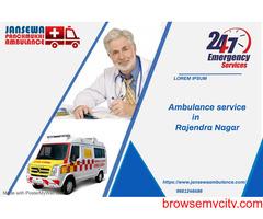 Budget friendly Ambulance Service in Rajendra nagar by jansewa