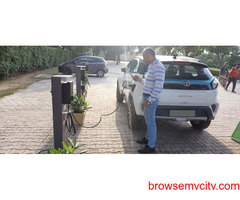 A historical moment First DC Fast Charger at Golden Galaxy Faridabad.