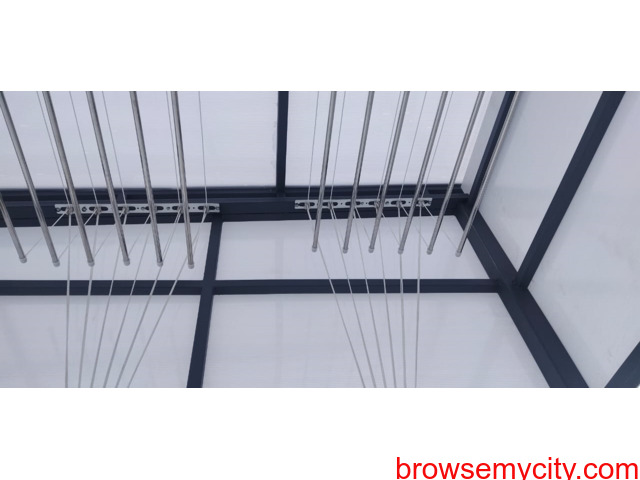 Call 6309850756 For Drying Clothes Hanger in Balcony Near Vasusri Sunrise Apartments, Kompally - 3/6