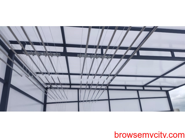 Call 6309850756 For Drying Clothes Hanger in Balcony Near Vasusri Sunrise Apartments, Kompally - 4/6
