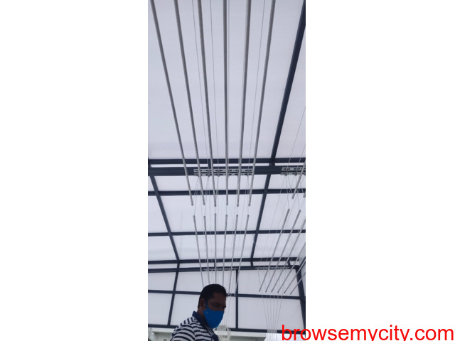 Call 6309850756 For Drying Clothes Hanger in Balcony Near Vasusri Sunrise Apartments, Kompally - 5/6