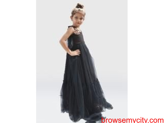 Buy The Stylish Black Colour Evening Gown From Us | Desi Sparkle - 2/2