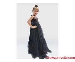 Buy The Stylish Black Colour Evening Gown From Us | Desi Sparkle