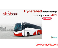 abhibus coupons : Hyderabad Hotel Bookings starting from Rs.489