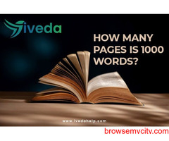 how many pages is 1000 words