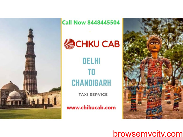 Book Delhi to Chandigarh Taxi Service at Lowest Price - 1/1