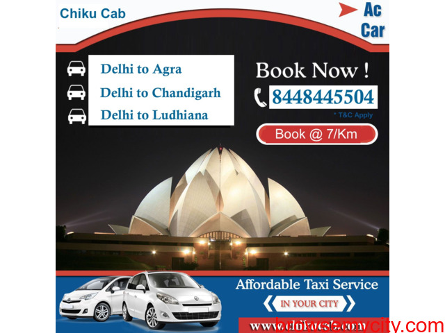 You Can Save on Delhi to Ludhiana Taxi for Oneway & Round Trip - 1/1