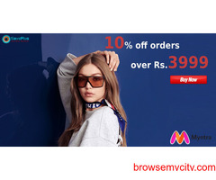 myntra coupons, offers : 10% off orders over of Rs.3999