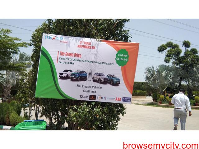 AARGO EV SMART organized GREEN DRIVE 2021 in Faridabad on 15th August, 2021 - 1/5