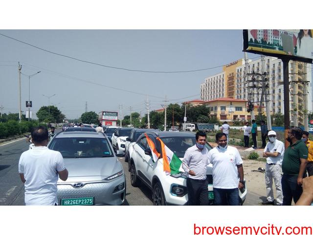 AARGO EV SMART organized GREEN DRIVE 2021 in Faridabad on 15th August, 2021 - 2/5