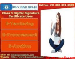 Class 3 Digital Signature Certificate Provider in Delhi Ncr, India