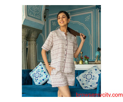 Buy Night Short Sets For Women Online at Low Price | MyclosetStory