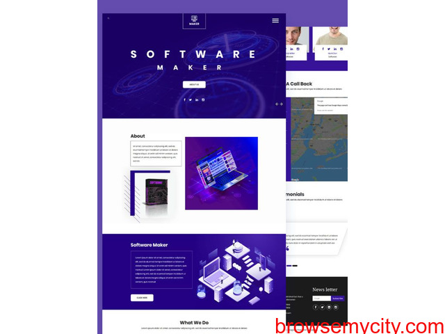 Download Free Bootstrap Template - 1/1