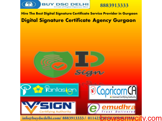 Get Digital Signature Certificate Online in Gurgaon - 1/3