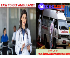 Medilift Ambulance Service in Saguna More- Quality Care Service