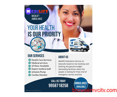 Medilift Ambulance Service in Kankarbagh with advanced team