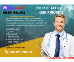Medilift Ambulance Service in Danapur with all Medical Team