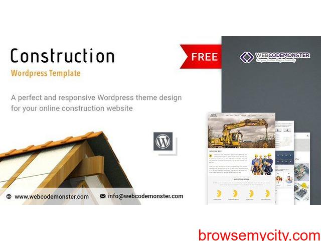 Free Responsive Construction Website - 1/1