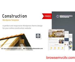 Free Responsive Construction Website