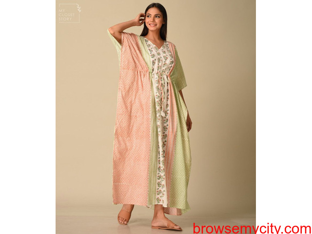 Shop Kaftans at best prices online in India from MyClosetStory - 3/3