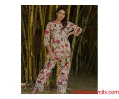 Get  cotton night wear Online at best prices in India