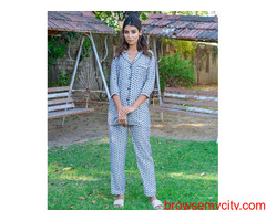 Buy pyjama sets for woman  online in india at MyClosetStory