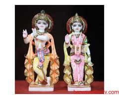 Buy Radha Krishna Marble Statue Pune - Gaj Arts