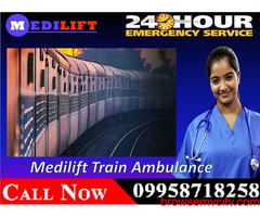 Get Quick and Best Medilift Train Ambulance in Patna with the Reliable ICU Facility