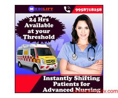 Medilift Ambulance Service in Gandhi Maidan- Cardiac Ambulance