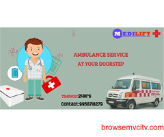 Medilift Ambulance Service in Mahendru- Round the clock