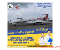 Air Ambulance Service in Varanasi Hire by King with Finest Medical Facilities