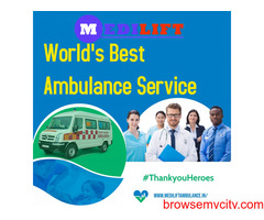 Medilift Ambulance Service in Saguna More, Patna- Easy to Carry