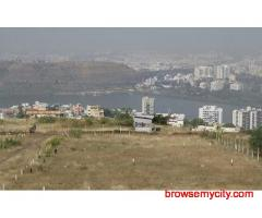 Wall compound developed plots for sale at katraj