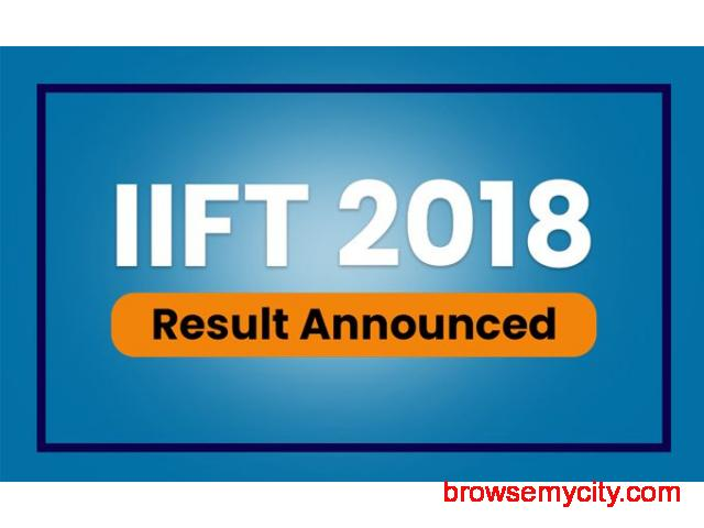 IIFT Result 2019 Announced by IIFT, Check Cut Off, Scorecard - MBA Rendezvous - 1/6