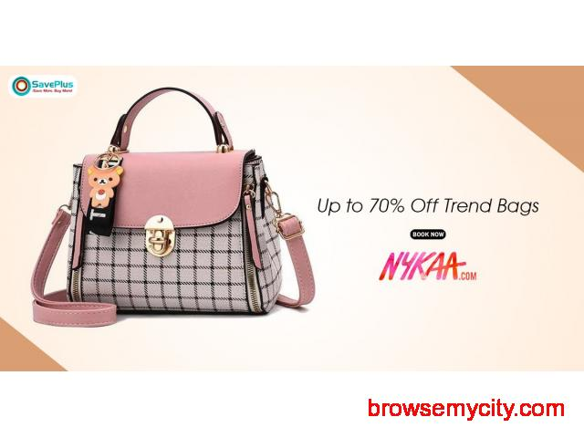 Nykaa Coupons, Deals & Offers: Get up to 65% Off Bags - 1/1