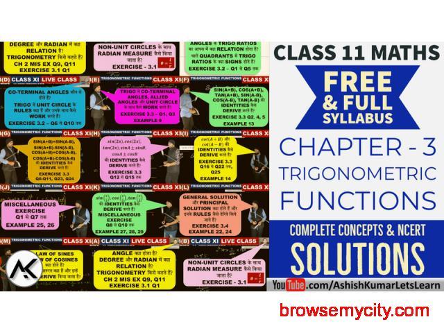 Online Classes for Trigonometric Functions Class 11 Maths - 1/1