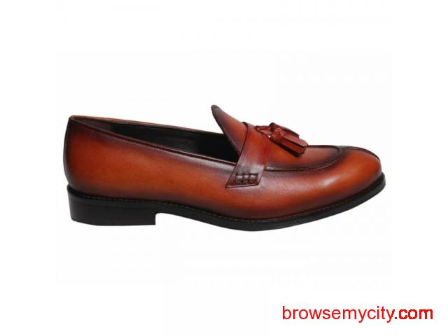 Buy Men Leather Loafers Online - 2/6
